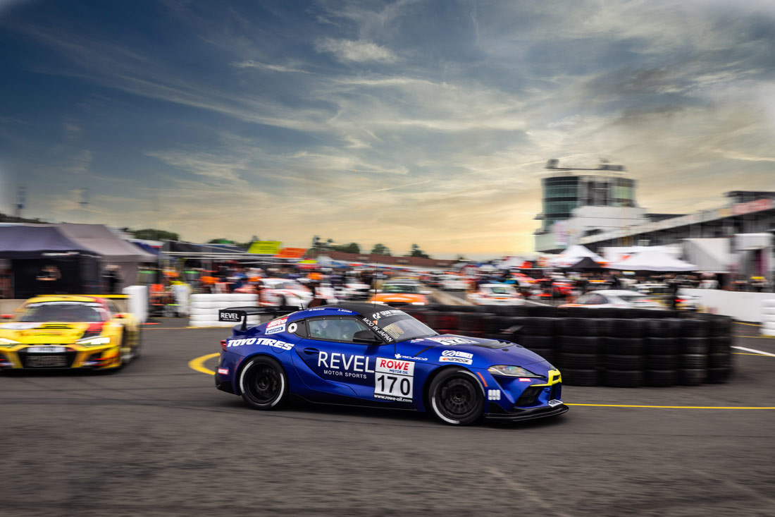 The Toyota Supra GT4 in Toyo-blue